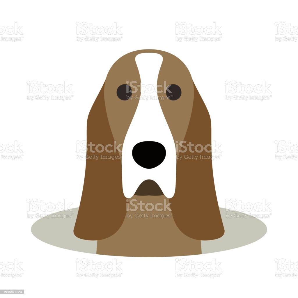 royalty free basset hound clip art vector images illustrations rh istockphoto com Basset Hound Cartoon Basset Hound Outline